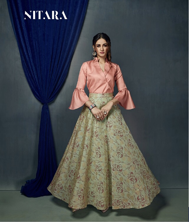 3664a3615a4 Nitara Launch sparkles Vol 2 mesmerising party wear collection Of top with skirt  Indo western concept